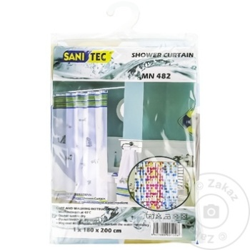SANITEC PERDEA DUS 180X200CM - купить, цены на Метро - фото 1