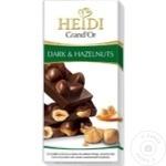 Ciocolata Heidi Grandor neagra cu alune 100g