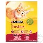 Hrană uscată pentru pisici Friskies vită/pui/legume 300g