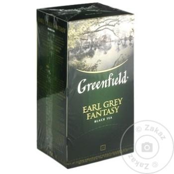 Ceai Greenfield negru cu bergamota in plicuri 25x2g - cumpărați, prețuri pentru Metro - foto 1