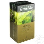 Чай Greenfield зеленый в пакетиках Green Melisa 25x1,5г