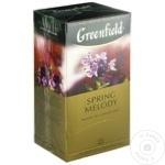 Ceai Greenfield negru in plicuri Spring Melody 25x1,5g