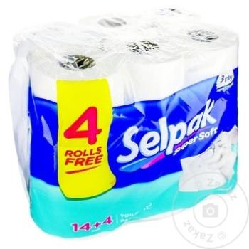 Hârtie igienică Selpak 3 straturi 14 + 4 role - cumpărați, prețuri pentru Metro - foto 1