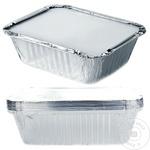 Caserolă aluminiu cu capac METRO Professional 10 bucăți x 1,5l