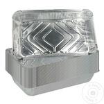 Алюминиевые контейнеры без крышки METRO Professional 1,125л х 10шт