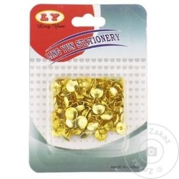 Pioneze metalice aurii 100 bucăți în set - cumpărați, prețuri pentru Metro - foto 1