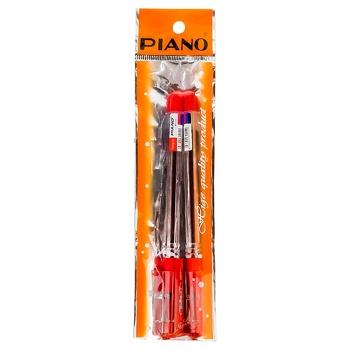 Набор ручек Piano PT-111 красный 2шт - купить, цены на Метро - фото 1