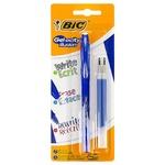 Ручка-роллер Bic + 2 резерва синие