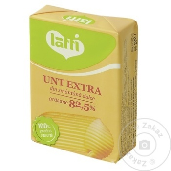 Unt Latti din smantana dulce 82.5% 200g - cumpărați, prețuri pentru Metro - foto 2