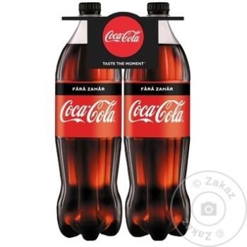Bautura racoritoare carbogazoasa Coca Cola fara zahar PET 2x1,5l - cumpărați, prețuri pentru Metro - foto 1