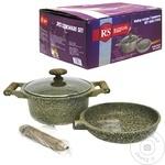 Набор посуды из алюминия Rainstahl коричневый 3 предмета
