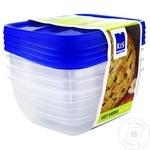 Набор из 4 пищевых контейнеров Kis 0,75л