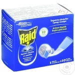 Прибор Raid от комаров + 10 пластин