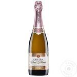 Вино игристое Cricova Pinot Meunier Rose экстра сухое 0,75л