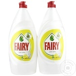 Средство для мытья посуды Fairy Lemon 2X800мл