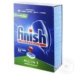 Таблетки для мытья посуды All in One Finish 52шт