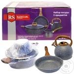 Набор посуды нержавеющая стали Rainstahl 5 предметов