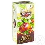 Чай Майский черный в пакетиках со вкусом яблока и шиповника 25 x 2г