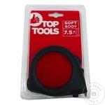 Рулетка c фиксатором Top Tools прорезиненная 25мм х 7,5м  (1упак=10шт)