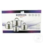 Набор посуды нержавеющая стали Bohmann 4 предмета