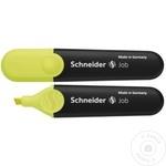 Маркер текстовый Schneider Job зеленый/желтый 2шт