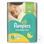 Scutece Pampers New Baby-Dry 2-5kg 43buc