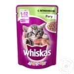 Корм для котят Whiskas баранина 85г