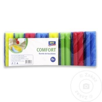 Губки кухонные ARO Confort 8шт - купить, цены на Метро - фото 2