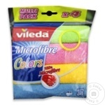 Laveta Vileda microfibra color 4buc