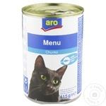 Корм для кошек ARO рыба 415г