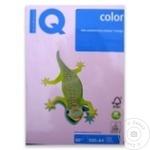 Бумага IQ цвет пастель Opi-74 Розовый A4 80г 500л