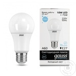 Gauss Bec LED 10W E27 65K A60