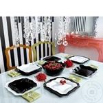 Набор столовой посуды Authentic белый/чёрный 18шт