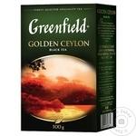 Чай Greenfield черный листовой Цейлон 100г