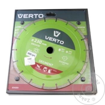Диск алмазный Verto сегментный 230мм - купить, цены на Метро - фото 1