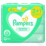Servetele umede 3+1 Pampers Sensitive 80buc