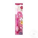 Зубная щетка детская Chicco розовая 3-6 лет