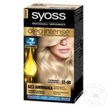 Краска для волос Syoss Oleo Intense 12-00 серебристый блонд