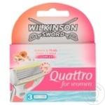Кассеты для бритья Wilkinson Quatro 3шт