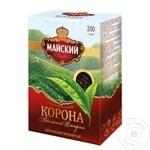 Чай Майский Корона черный листовой 200г