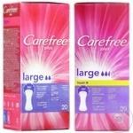 Ежедневные гигиенические прокладки Carefree Large 20шт