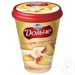 Десерт творожный Dolce персик 400г