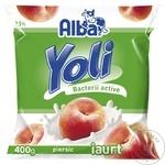Питьевой йогурт Alba Yoli персик 400г