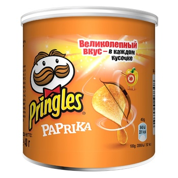 Чипсы Pringles со вкусом паприки 40г - купить, цены на Метро - фото 1