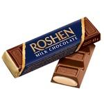 Шоколадный батончик Roshen молочный с кремом брюле 43г