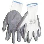 Перчатки рабочие синтетические прорезиненные серые (1уп - 12 пар)