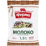 Молоко Ферма UHT 1,5% 0,9л
