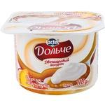 Йогурт Дольче персик/яблоко 115г