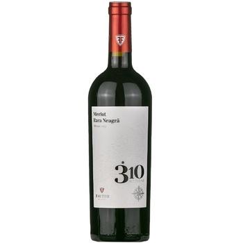 Вино Fautor Altitudine 310 Merlot&Rara Neagra красное сухое 0,75л - купить, цены на Метро - фото 1