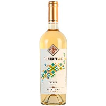 Вино Timbrus Viorica 2018 белое сухое 0,75л - купить, цены на Метро - фото 1